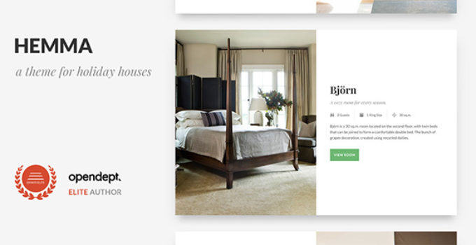 Hemma - A WordPress theme for Holiday Houses
