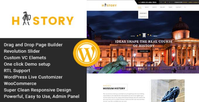 History- Museum & Exhibition WordPress Theme