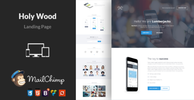 Holy Wood - Simple WordPress APP Landing Page Theme