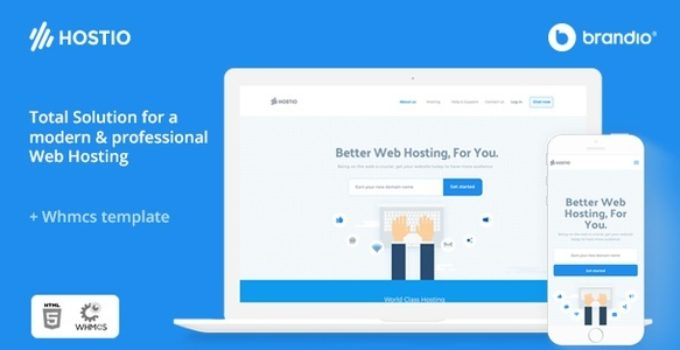 Hostio Web Hosting & WHMCS WordPress Theme
