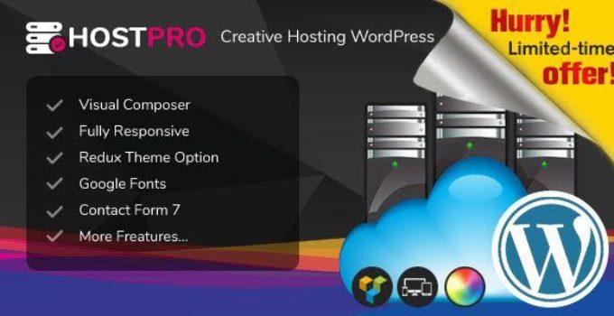 Hostpro - Responsive Hosting WordPress Theme