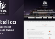 Hotelica - One Page Hotel WordPress Theme