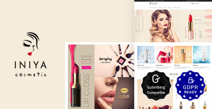 Iniya - Cosmetic WordPress Theme