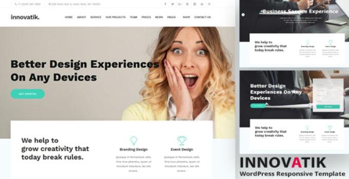 Innovatik - Corporate WordPress Theme | Creative WP | Business WP