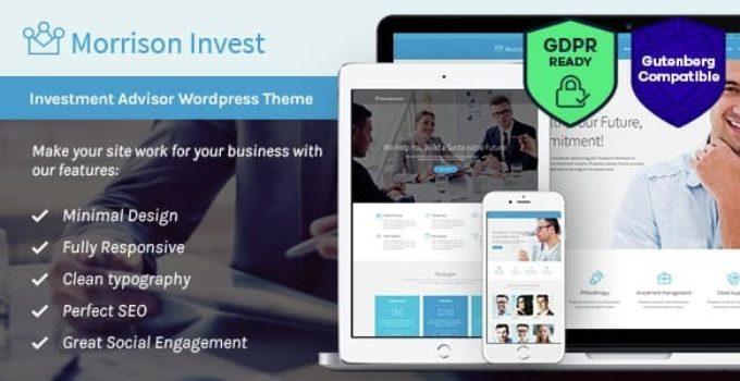 Investments, Business & Financial Advisor WordPress Theme