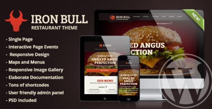 Iron Bull Restaurant WordPress Theme Free Download Wpnull24
