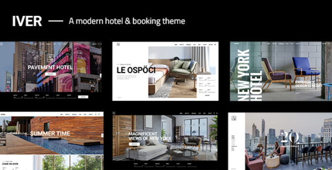 Iver - A Modern Hotel and Booking Theme