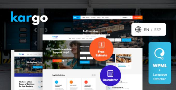 Kargo | Logistics & Transportation WordPress Theme FREE