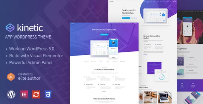 Kinetic - Desktop, Mobile & Product App WordPress Theme