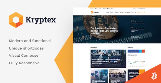 Kryptex | Cryptocurrency & Mining WordPress Theme