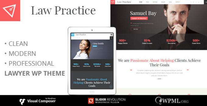 LAW PRACTICE - Lawyer Responsive Business Wordpress Theme