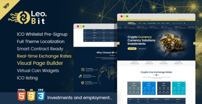 Leobit - Crypto Currency WordPress Theme