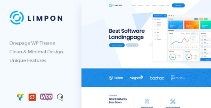 Limpon - App Landing Page WordPress Theme
