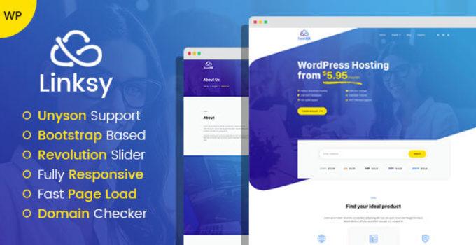 Linksy - domain and hosting provider WordPress theme