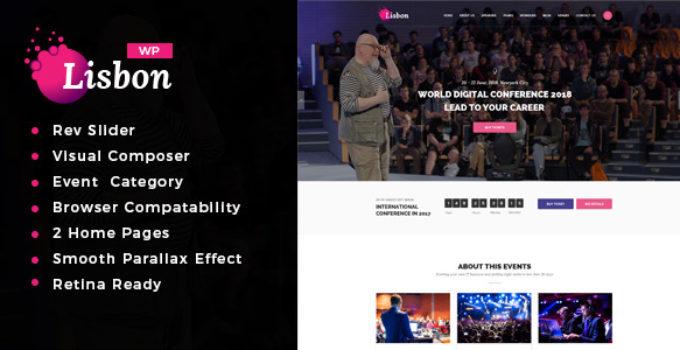 lisbon - Conference & Event WordPress Theme