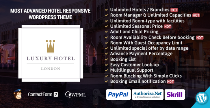 Luxury   Online Hotel Booking Reservation Theme