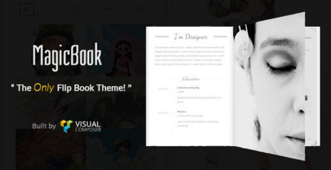 MagicBook - A 3D Flip Book WordPress Theme