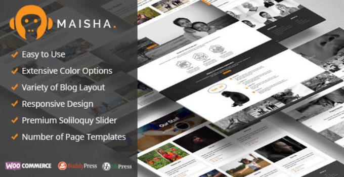 Maisha - Charity WordPress Theme FREE Download | wpnull24