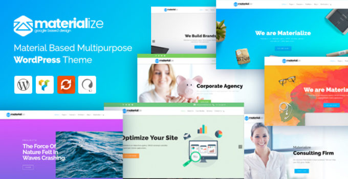 Materialize - Material Design Multipurpose WordPress Theme