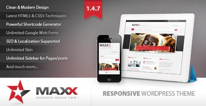 Maxx - Responsive Creative Wordpress Theme