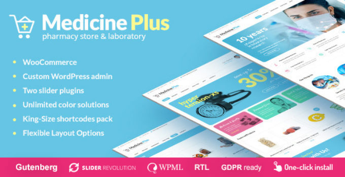 Medicine Plus - Medical Pharmacy & Drugstore Theme
