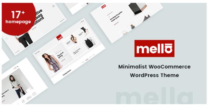 Mella - Minimalist Ajax WooCommerce WordPress Theme