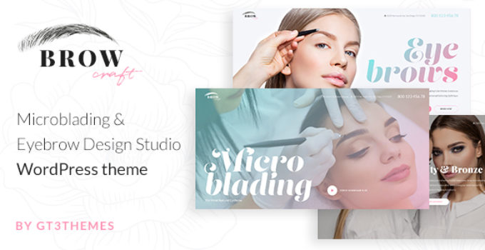 Microblading & Eyebrow Beauty Salon WordPress theme - Browcraft