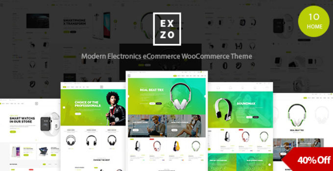 Modern Electronics eCommerce WordPress Woocommerce Theme - Exzo