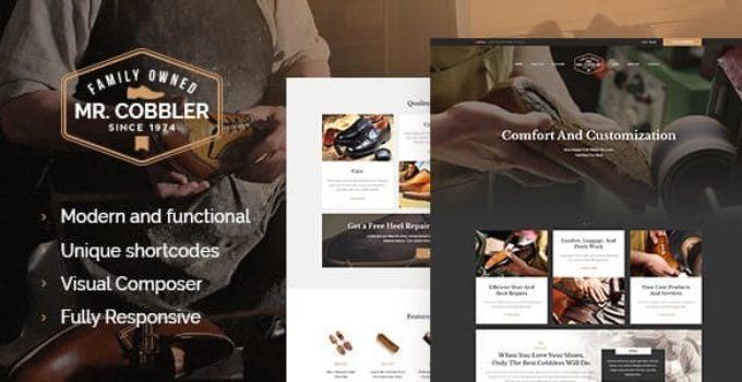 Mr  Cobbler | Custom Shoemaking & Repairs WordPress Theme FREE