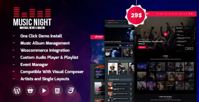 MusicNight Blog WordPress Theme