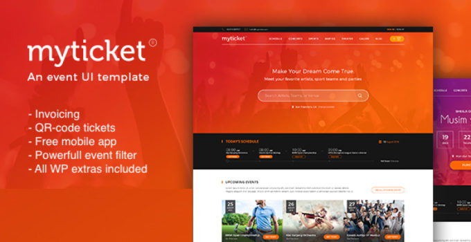 MyTicket - Ticket/Event Management System WordPress Theme