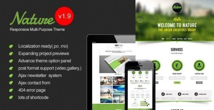 Nature - Responsive Onepage WordPress Theme