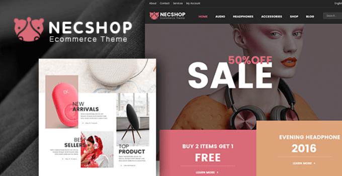 Nec Shop - HiTech RTL Responsive Multipurpose WooCommerce WordPress Theme