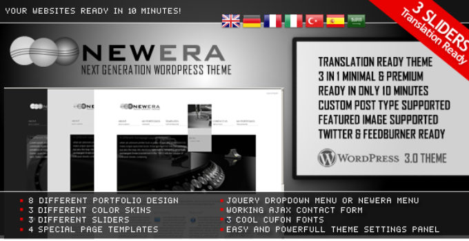 NewEra 3 in 1 Wordpress Theme Ready in 10 Minutes