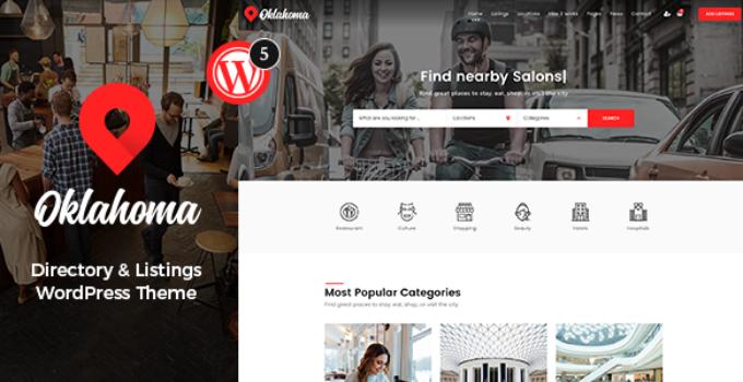 Oklahoma - Directory & Listings WordPress Theme