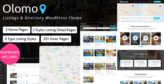 Olomo – Listings & Directory WordPress Theme