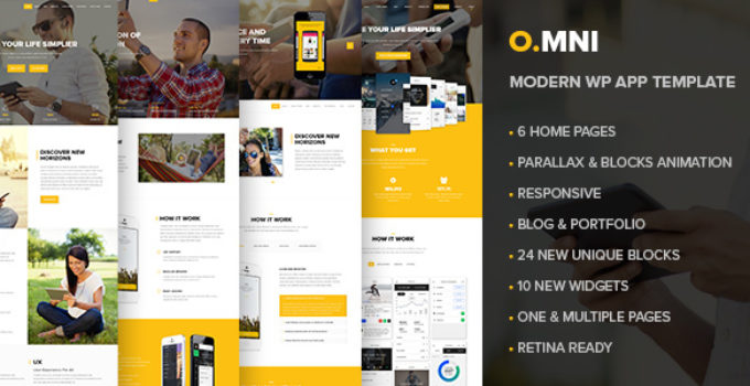 Omni | Stylish Powerful One Page and Multipage App and Software WP Theme
