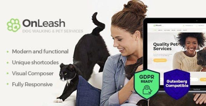 OnLeash | Dog Walking & Pet Services WordPress Theme
