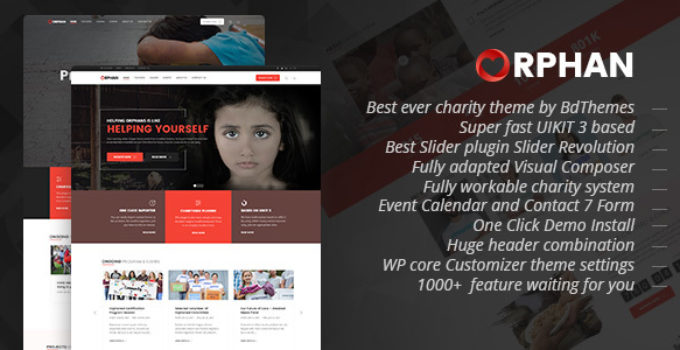 Orphan - Charity WordPress Theme