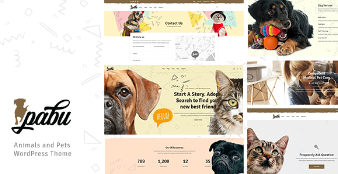 Pabu – Animals and Pets WordPress Theme