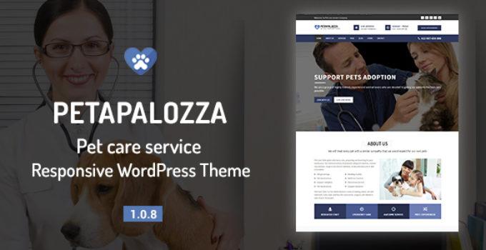 Petapalozza - Pet Care Service WordPress Theme