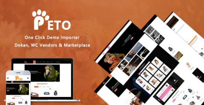 Peto - Pets and Vets Shop WooCommerce WordPress Theme