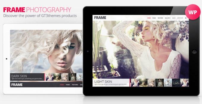Photography Minimalistic WP Theme - Frame