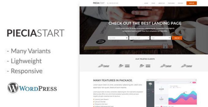 Piecia - One Page WordPress Landing Page