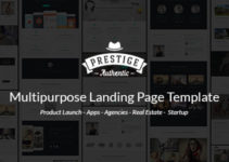 Prestige - Multi Purpose WordPress Landing Pages
