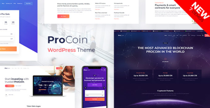 ProCoin - ICO & Cryptocurrency WordPress Theme