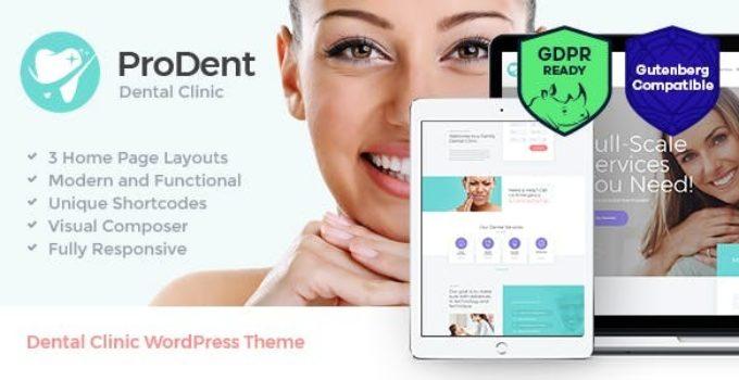 ProDent | Dental Clinic & Healthcare WordPress Theme FREE
