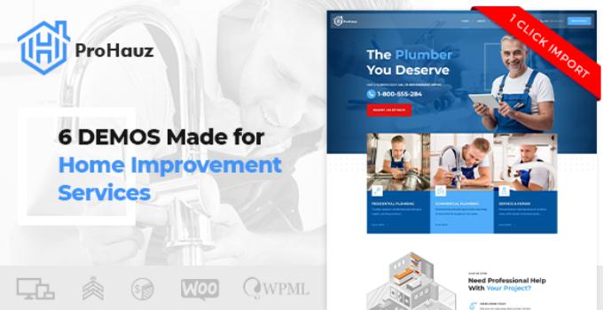 ProHauz – Handyman, Plumber WordPress Theme