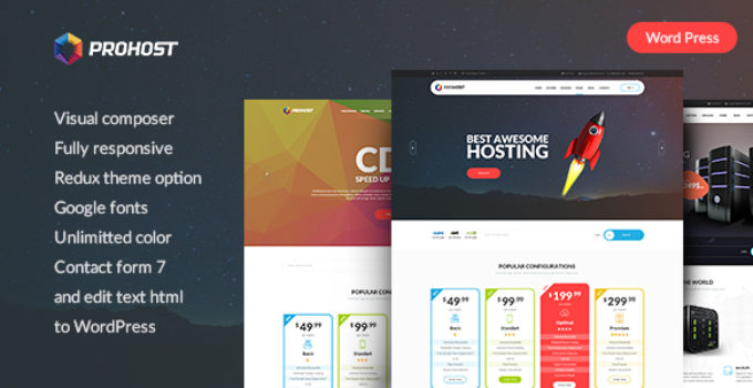 ProHost - Power Pack Hosting WordPress Theme