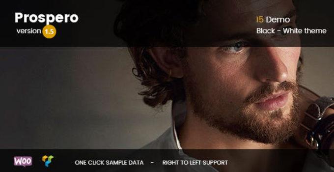 Prospero - Fashion Jewelry Watch and Glasses WooCommerce Theme